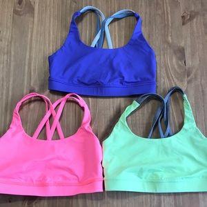 lot of lululemon sports bras